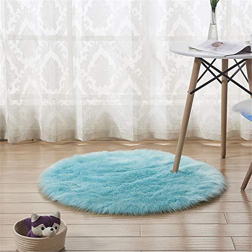 SONGHJ Plüsch-Teppich-runder Hauptwohnzimmer-Schlafzimmer-dekorativer Teppich