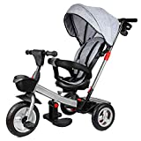 Triciclo para niños, 4 en 1 Triciclo Evolutivo con 360° Asiento Giratorio , Trike Bicicleta para Bebe Nino 9 Meses - 5 años Capacidad de Carga 25KG