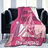 Lifank Ultra-Soft Micro Pink Panther Cradle Gentle Tapestry Old Man and Woman Blanket 50 X 40, 60 X 50, 80 X 60 Inch