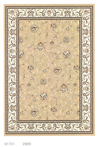 Beluchi Viskose Baumwolle Seide Teppiche, Rot / Beige / CremefarbenHaus moderne stilvolle langlebige Büroraum weichen Teppich (200x290cm, Beige) 61751/2969/200x290