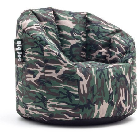 Big Joe Milano Bean Bag Chair Multiple Colors, Provides Ultimate Comfort, Great for Any Room (Woodland Camo)