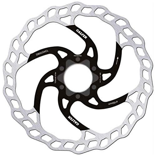 GALFER Bike MTB Disc Wave Center-Lock Ø180MM, Adultos Unisex, Negro, ESTANDAR