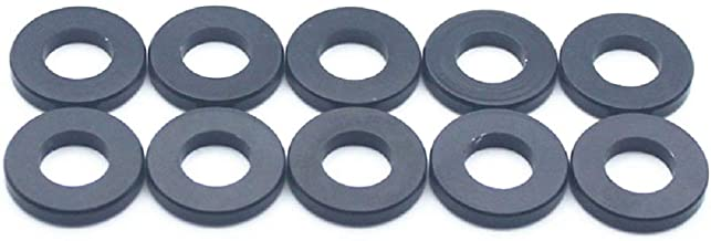 20pcs M6 Flat Washer Aluminum Gasket Anodized Countersunk Washer for RC Model Part (Black)