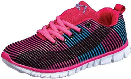 M-Air Damen Netz altletic Spitze Sneaker, Pink (Wave Fuchsia), 35 B(M) EU