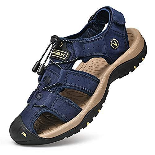 Blue Sports Outdoor Herren Sandalen Langlebige Sommerschuhe rutschfeste Wander-Trekkingsandalen Outdoor Schuhe mit geschlossenen Zehen rutschfeste Fußbett Neopren gefüttert-41EU Well
