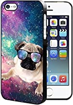 Galaxy Space Flying Pug Dog iPhone 5/5S/SE Hard Case Back Cover
