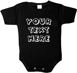 Tradebox Ihr WunschText Hier Baby Body Selbst Gestalten Dein individueller Druck Personalisiert Babykleidung Strampler Unterwäsche beeindruckend Geschenk Überraschung Geburtstag Weihnachten