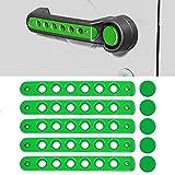 Side Door Handle Insert Grab Handle & Push Button Knobs Cover Trim Fit for Jeep Wrangler JK JKU 2007-2018