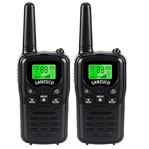 SANZUCO Walkie Talkies for Adults Two-Way Radios 22 Channels FRS VOX Scan Back-lit LCD Screen,Up to 5 Miles in Open Fields, Built-in LED Torch,2pack Hand held radios. Buy it now for 25.99