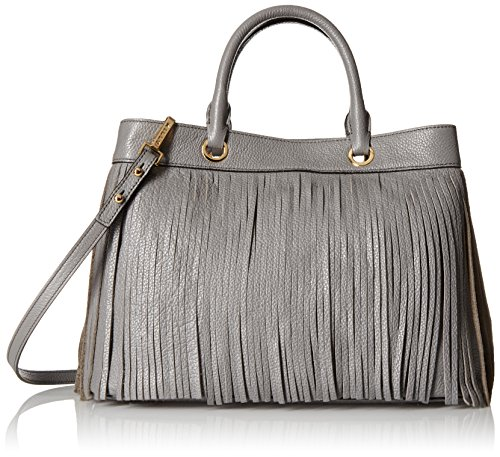 MILLY Essex Fringe Tote, Grey