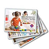 Magnetic Photo Holders for Refrigerator - Magnetic Photo Picture Frames - White Magnetic Photo Pockets - Holds 4x6 Photos (10)
