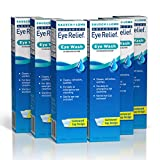 Eye Wash by Bausch & Lomb, Eye Relief Solution that Cleans, Refreshes, and Soothes, 4 Fl Oz (Pack of 6)