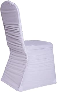 Event Decor Direct Premium Ruched Chair Cover - Spandex/Lycra - White