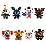 8 Pcs five nights at freddy's cake toppers Toys set for the five nights at freddy's party supplies
