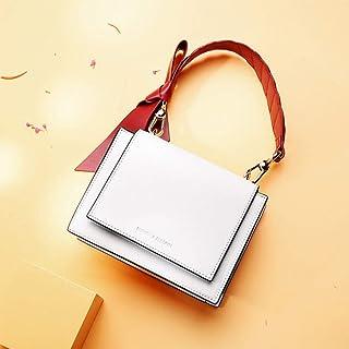 LHKFNU Cross Body Women Designer Famous Brand Lady Bag Black White Top Handle Bag Luxury Leather Handbag Shoulder Purse