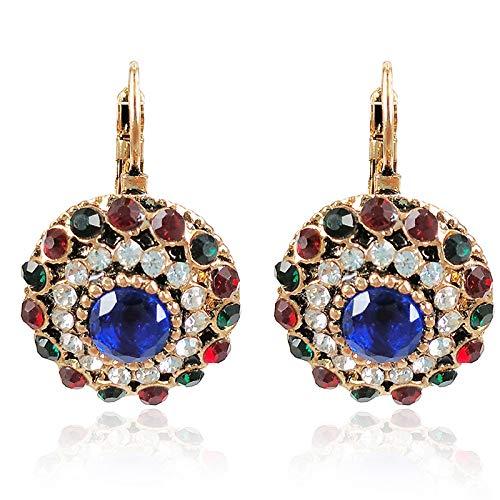 Accesorios retro de moda señoras joyería de color Palacio Pendientes Accesorios aleación Pendientes