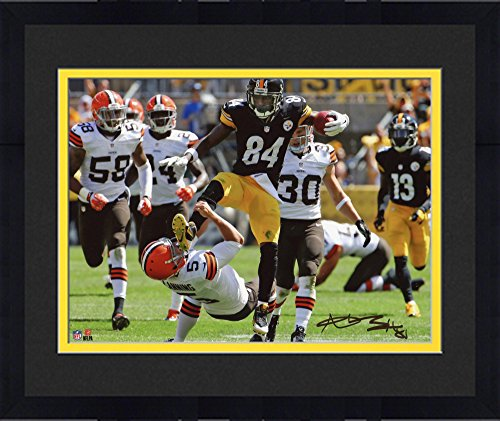 "Framed Antonio Brown Pittsburgh Steelers Autographed 8"" x 10"" Kick in the Face Photograph - Fanatics Authentic Certified"