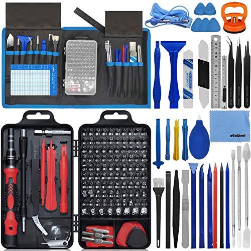 oGoDeal 155-in-1 Feinmechaniker Schraubendreher Werkzeug Set Reparaturwerkzeug für Computer, Brille, iPhone, Laptop, PC, Tablet, PS3, PS4, Xbox, Macbook, Kamera, Spielzeug(Rot)