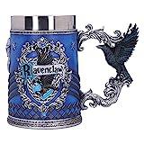 Nemesis Now B5612T1 Harry Potter – Chope à bière de collection – Motif : Serdaigle – Cadeau pour Fan et Passionné – Qualité Supérieure – Bleu et Argenté – 15,5 CM, Résine, 15,5cm
