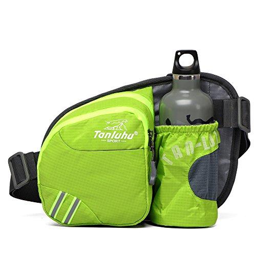 QKa Wasserdichte Nylon-Hüfttasche, Outdoor-Sportarten Wandern Laufsporttasche Brusttasche Wasserkocher Pack für Wandern,A