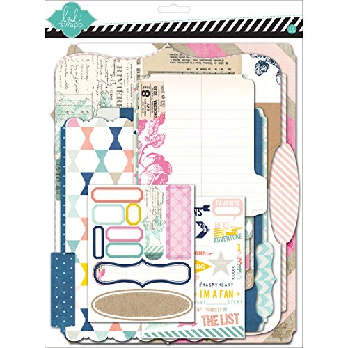 American Crafts Papier Heidi Swapp 10268595 Schablone zum Mixed Media Scrapbook Album Kit 9 Zoll x 29,2, tonkartons Memory Dateien