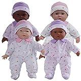JC Toys 11' Soft Body Baby Dolls - Set of 4