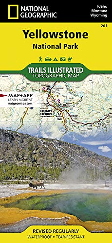 Yellowstone National Park (National Geographic Trails Illustrated Map (201))