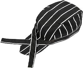 POFET Unisex keuken Catering Chef Tie Back Hat Cap Headwrap Bandana Hat voor Restaurant, Koffiebar, Bakkerij Cook Ober, 11...