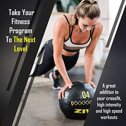 ZIVA Commercial-Grade Soft Wall Ball - Medicine Slam Ball for Slamming, Bouncing, Throwing - Exercise Ball for Crossfit, Plyometrics, Cross Training - 8 lbs, 13.7