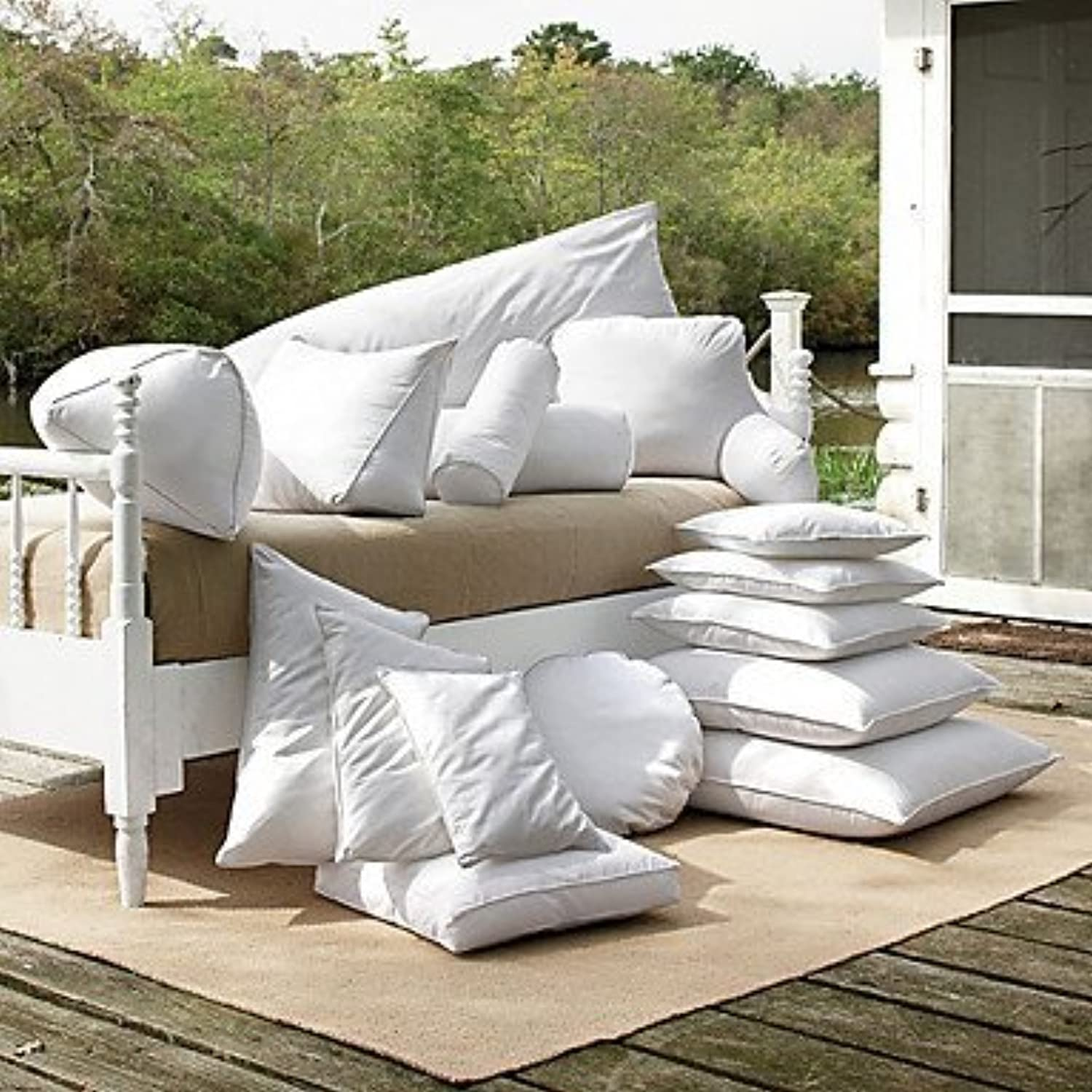 ZYShome Polyester Free Fill Pillow InsertMultisize Available , 22  Square