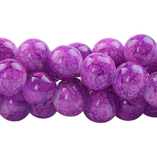 1-Hole 50pcs 6mm Lentil Beads Czech Pressed glass Beads in the shape of a lens Chalk White Violet Luster