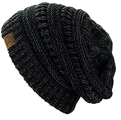 C.C Trendy Warm Chunky Soft Stretch Cable Knit Beanie Skully Great for any  outdoor activities  skiing 5a93a6ef52