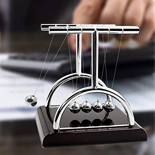Newtons Cradle Pendulum Balls Swinging Balls Physics Science Desk Gadgets Office Desk Decorations Toys, T-Shape