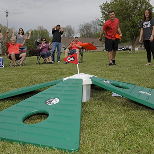 MOZARK Indoor/Outdoor Cornhole Game - Multi-Player Golf Version - 8 Regulation Cornhole Bags - Score Cards Included - Portable Play Anywhere Fun for All Ages
