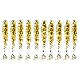 WYHM Señuelos 10 unids/Lote señuelos Blandos de Silicona 5, 5/6. 3/7/ 9/12 cm 2g Productos para Pesca de Pesca de mar Wobblers Tackle Artificial Señuelos de Superficie (Color : N, tamaño : 9 CM)