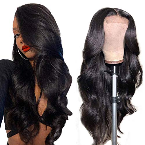 Lace Front Wigs Human Hair Body Wave Human Hair Wig 16 inch,Aomllute Brazilian Body Wave Lace Front Wigs Human Hair 4x4 Lace Front Human Hair Wigs 150% Density Body Wave Lace Wigs