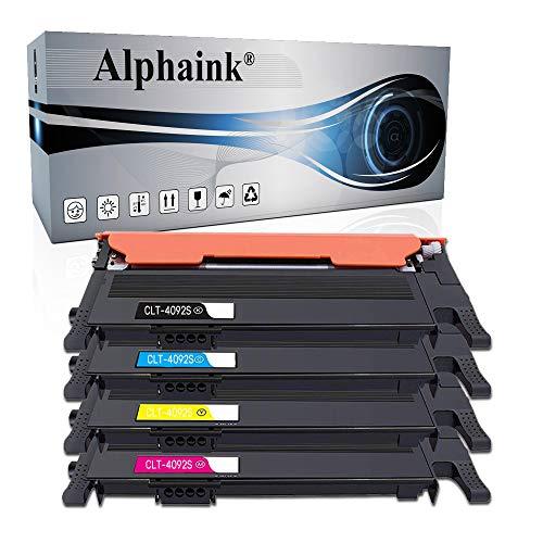 Alphaink 4 Compatibili con Samsung CLT-K4092S CLT-M4092S CLT-C4092S CLT-Y4092S per Samsung CLP-310 CLP-310N CLP-315 CLP-315W CLX-3170FN CLX-3175 CLX-3175FN CLX-3175FW CLX-3175N