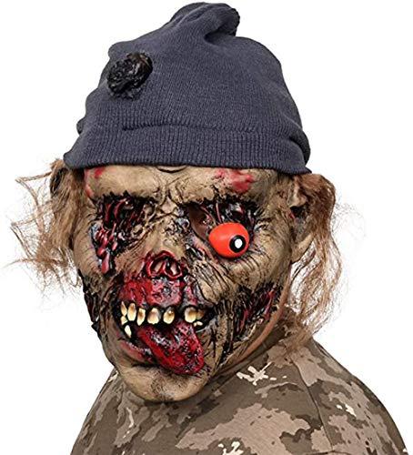 AivaToba Las máscaras de Cabeza de Terror Espeluznante de látex de la Novedad se enfrentan espantosas para la Fiesta de Disfraces de Halloween (C)