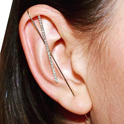 Pendientes de gancho de correa eslabonada con diamantes de imitación clásicos pendientes de joyería magnífica para las mujeres
