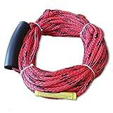 OSTOUTDOOR Cuerda inflable remolcable de esquí, Maxium para dos jinetes o 330 libras, material de polipropileno, color rojo, longitud 18,3 metros