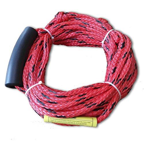 ostoutdoor hinchable para esquí acuático de esquí cuerda de remolque, máxima para dos Rider o 340kg, PP Material, color rojo, longitud 60pies (18,3m)