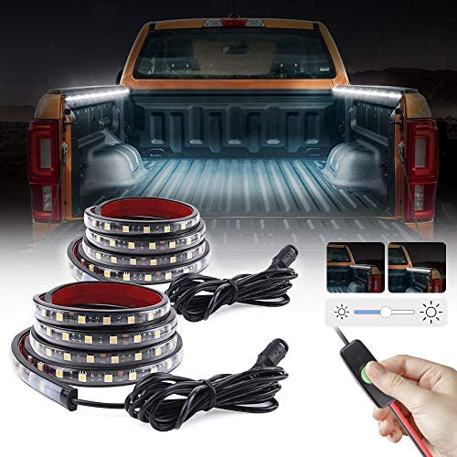 MICTUNING Upgrade 60 Inch White LED Cargo Truck Bed Light Strip Waterproof On Off Dimming Switch product image