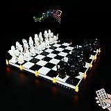 LODIY - Kit de luces LED RC con sonido para Lego Harry Potter Hogwarts Wizard s Chess 76392 - Juego de luces para Lego 76392 ajedrez (solo luz, no incluye modelo Lego)