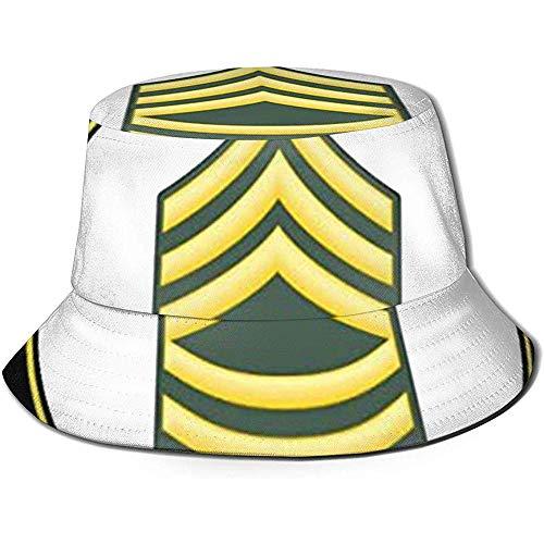 VANOE Bucket Hat Cappello da Sole a Secchiello da Pescatore Stampato Sergente veterano dell'Esercito Americano, Cappelli da Secchiello Funky Junque
