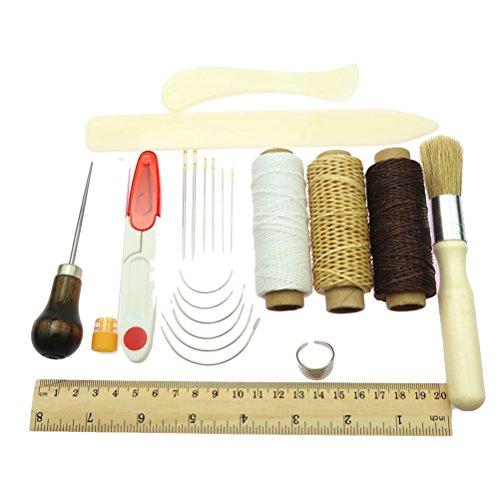 healifty Instrumentos de costura a mano artigianali de piel Set Kit de...