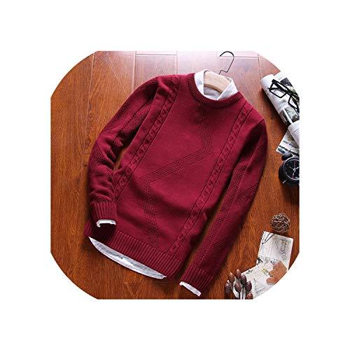 Hombres Suéter con Capucha O Cuello De Algodón Jersey De Punto Abrigo De Invierno Casual De Manga Larga Suéteres Homme Knitting...