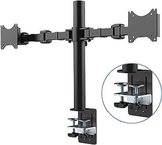 Fleximounts Soporte de Mesa con Doble Brazo de Movimiento Completo cuadra a Monitor de 10