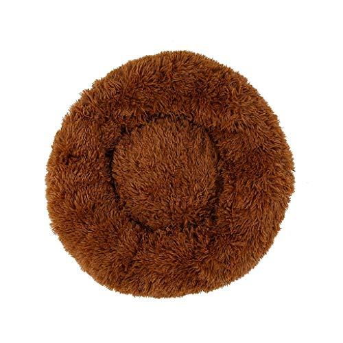 Zacht huisdier hond bed grijs ronde kat winter warm slapen bedden tas puppy hond katten kussen mat huisdieren matras, 60x20cm, B