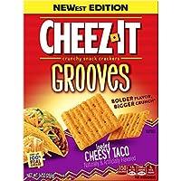 Cheez-It Grooves loaded Cheesy Taco Crunchy チーズ -イシラグルーヴ ロードされたチーズタコクランチスナッククラッカー250g [並行輸入品]