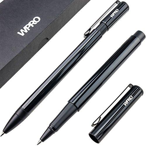 WPRO Geschenk Set Kugelschreiber & Tintenroller | Schreibstift Kuli Stift | Etui - Box| schwarz